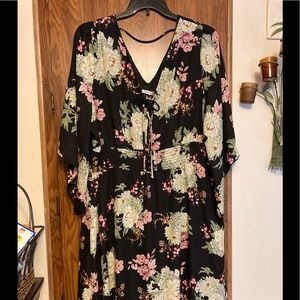 NWT Maurice's Plus Sz 3 Floral Print Lined Dress